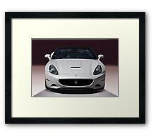 2011 Ferrari California 'Front' Framed Print