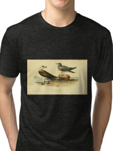 James Audubon Vector Rebuild - The Birds of America - From Drawings Made in the United States and Their Territories V 1-7 1840 - Richardson Jager Tri-blend T-Shirt