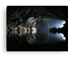 Awesome Lao cave Canvas Print