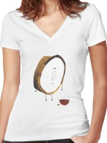 Oh crumbs... Women's Fitted V-Neck T-Shirt