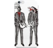 Hipster renaissance nerd knight dragon guitar battle iPhone Case/Skin