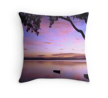 Purple Boat Gum Sunset Throw Pillow