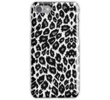 White Leopard Print iPhone Case/Skin