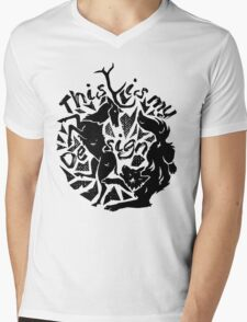 Stag and Wolf - This is my Design Mens V-Neck T-Shirt