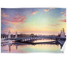 """Pont Neuf Paris"" Watercolor Poster"
