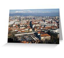 Ljubljana The capital of Slovenia Greeting Card