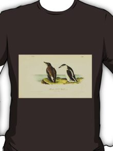 James Audubon Vector Rebuild - The Birds of America - From Drawings Made in the United States and Their Territories V 1-7 1840 - Slender Billed Guillemot T-Shirt