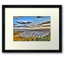 The city of Athens Framed Print