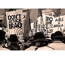 Don't Attack Iraq Photographic Print