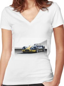 1956 Lister-Corvette Roadster 'Studio' Women's Fitted V-Neck T-Shirt