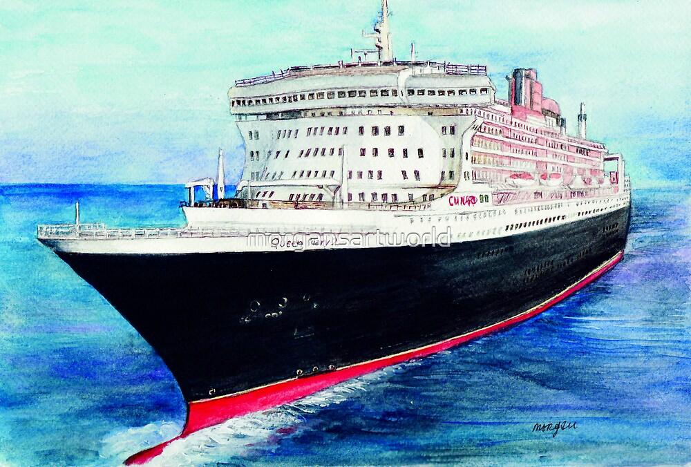 Queen Mary 2 by morgansartworld