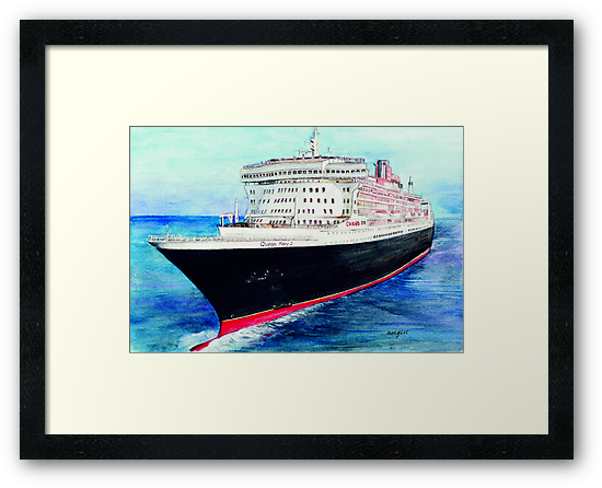 Queen Mary 2 by morgansartworld