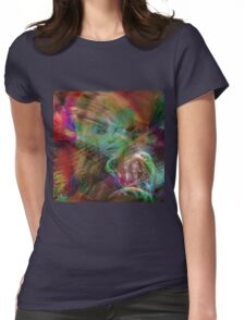 """""""Where you finds you on earth I stay up you ! """" Womens Fitted T-Shirt"""