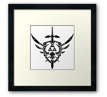 Legend Of Zelda: Sword and Shield  Framed Print