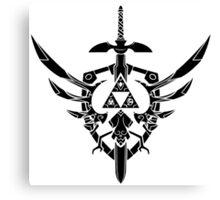 Legend Of Zelda: Sword and Shield  Canvas Print