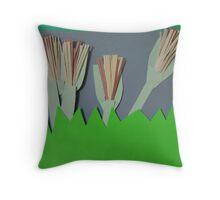 Pretty Paper Plants Throw Pillow