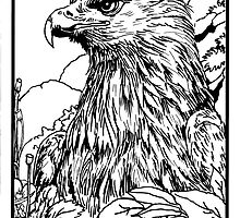 Pen and Ink collection -eagle by morgansartworld
