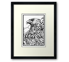 Pen and Ink collection -eagle Framed Print
