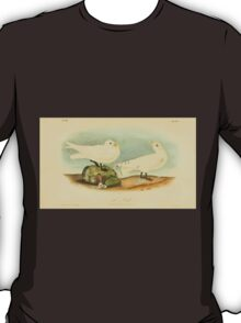 James Audubon Vector Rebuild - The Birds of America - From Drawings Made in the United States and Their Territories V 1-7 1840 - Ivory Gull T-Shirt