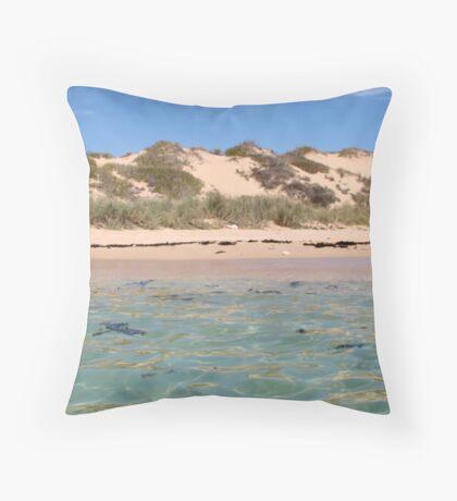 The Lagoon, Coral Bay, WA Throw Pillow