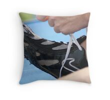 Lacing the Spikes Throw Pillow