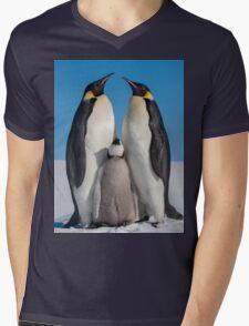 Emperor Penguins and Chick - Snow Hill Island Mens V-Neck T-Shirt