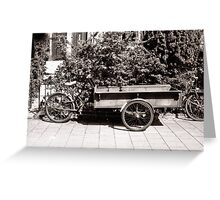 Carrier Tricycle Greeting Card