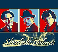 Sherlock Trilogy - X3 Red/Blue by ifourdezign