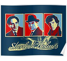 Sherlock Trilogy - X3 Red/Blue Poster