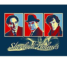 Sherlock Trilogy - X3 Red/Blue Photographic Print
