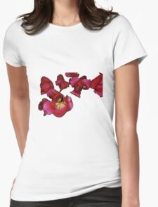 Tulips in Pink and Purple Womens Fitted T-Shirt