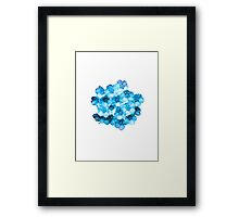 Many Blue Flowers Framed Print