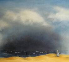 After Friedrich 'Monk by the Sea' by Tracey Boulton