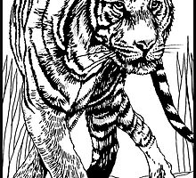 Pen and Ink Collection - Tiger by morgansartworld