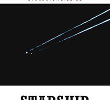 Starship Enterprise Minimalist Star Trek by Charlottesw3b