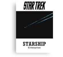 Starship Enterprise Minimalist Star Trek Canvas Print