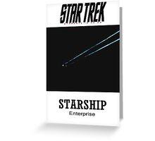 Starship Enterprise Minimalist Star Trek Greeting Card