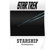 Starship Enterprise Minimalist Star Trek Poster