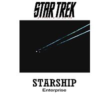 Starship Enterprise Minimalist Star Trek Photographic Print