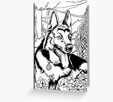 Pen and Ink Collection - German Shepherd Greeting Card
