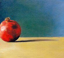 'Pomegranate on Ochre' by Tracey Boulton