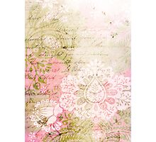 Romantic Vintage Damask Photographic Print