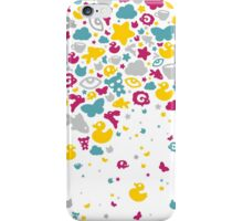 Toys falling like candies - white iPhone Case/Skin