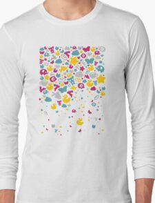 Toys falling like candies - white Long Sleeve T-Shirt