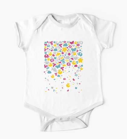 Toys falling like candies - white One Piece - Short Sleeve