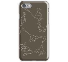 Playful Feathered Raptors iPhone Case/Skin