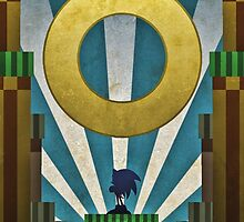 Sonic The HedgeHog - Art Deco Style by Firenutdesign
