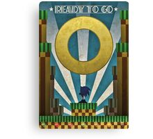 Sonic The HedgeHog - Art Deco Style Canvas Print