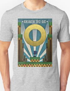 Sonic The HedgeHog - Art Deco Style T-Shirt