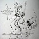 Anime Chick VS 1-Eyed Monster by KillerNapkins